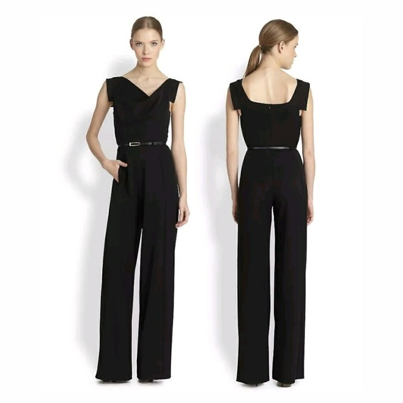 946b2daee35 Black Halo Pants - New Black Halo Jackie O jumpsuit HTF Celebrity Fav
